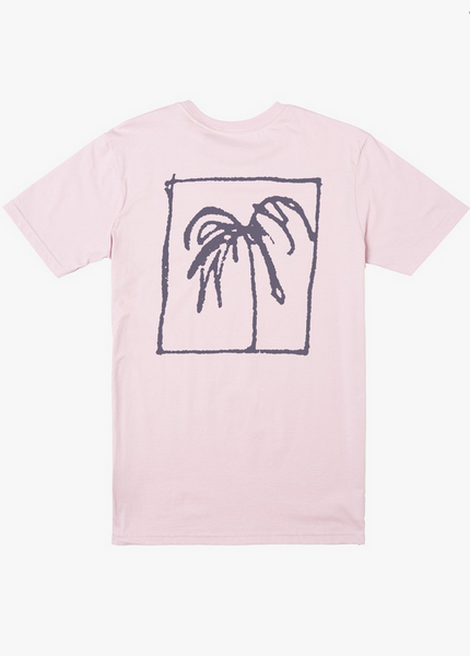 Palm Trees Short Sleeve Tee - Pale Lilac