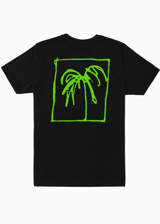 Palm Trees Short Sleeve Tee - Black