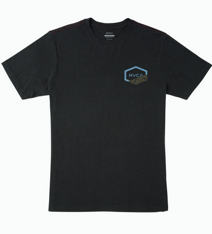 Fraction Short Sleeve Tee - Pirate Black