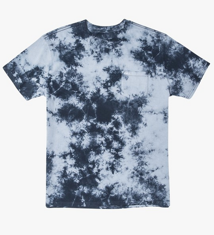 Day Shift Tie Dye Short Sleeve Tee - Blue Tie Dye