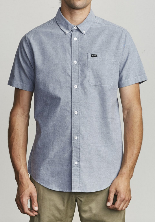 That'll Do Stretch Button-Up - Distant Blue