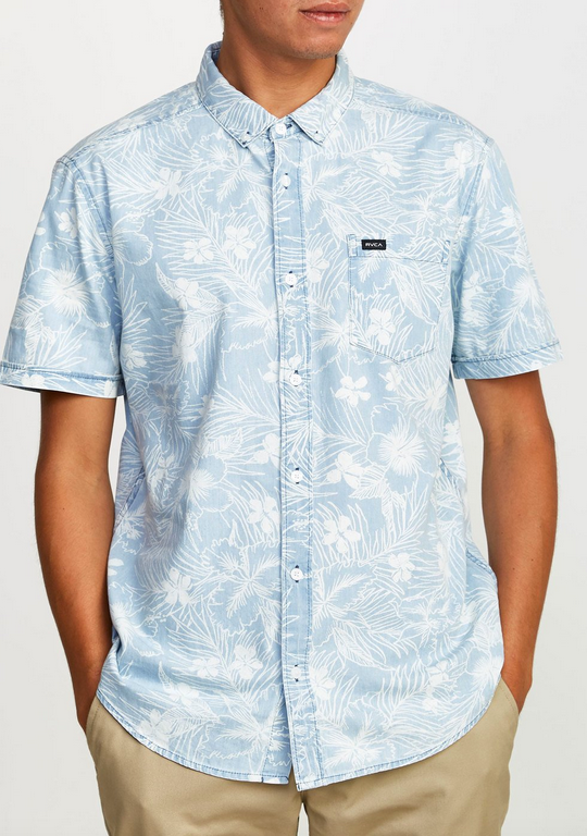 Dead Flag II Button-Up - Blue/White