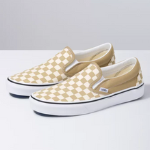 Load image into Gallery viewer, Classic Slip-On Shoes (Checkerboard) - Cornstalk/True White