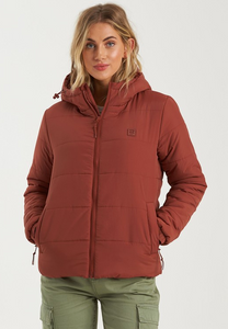 Transport Puffer Jacket - Chestnut