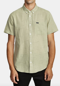 That'll Do Textured Button-Up Shirt - Sage