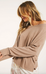 Leila Rib Long Sleeve - Cocoa