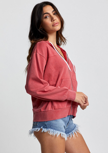 Retrograde Zip Hoodie - Poppy Red