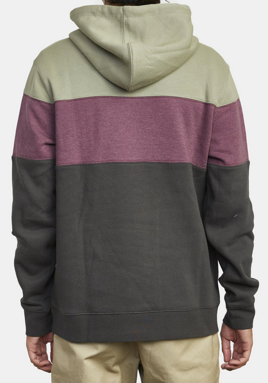 Vernon Color Block Hoodie - Pirate Black