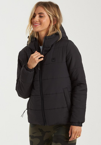 Transport Puffer Jacket - Black