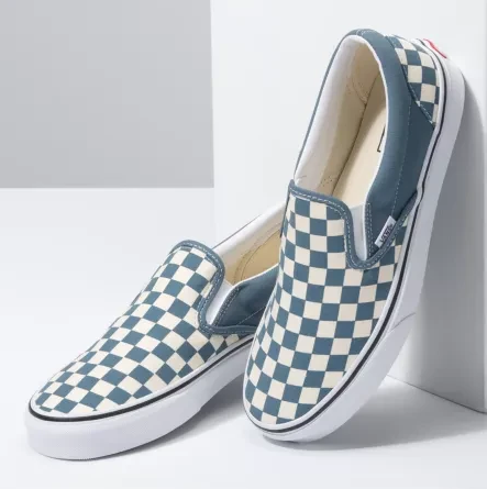 Classic Slip-On Shoes (Checkerboard) Blue Mirage/True White