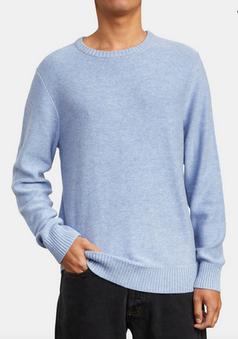 Witz Marl Crew Sweater - Blue Marble