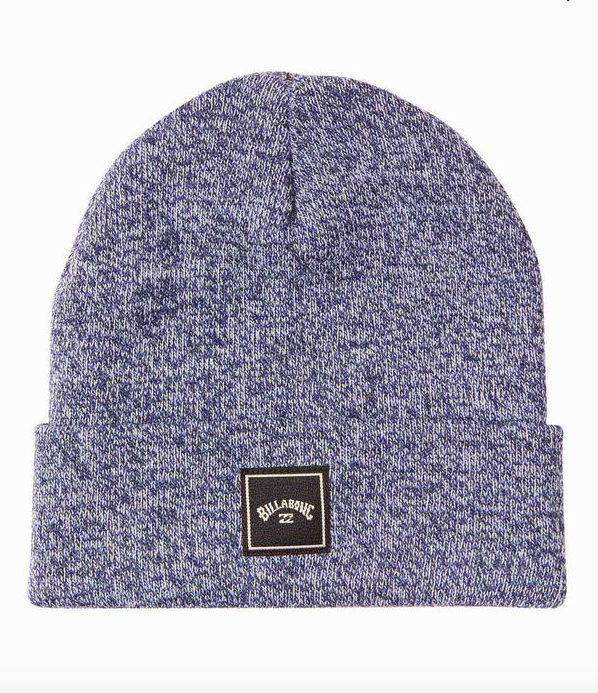 Stacked Heather Beanie - Navy