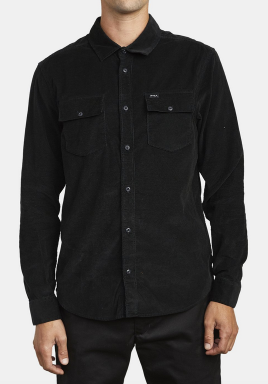 Freeman Cord Long Sleeve Shirt - Black