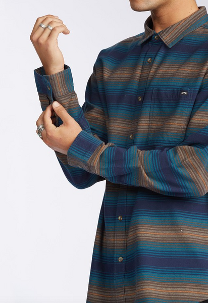 Coastline Flannel Shirt - Denim Blue