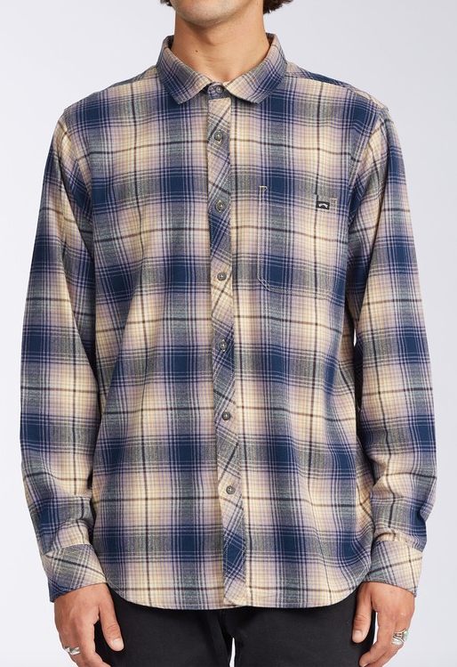 Coastline Flannel Shirt - Navy/Khaki