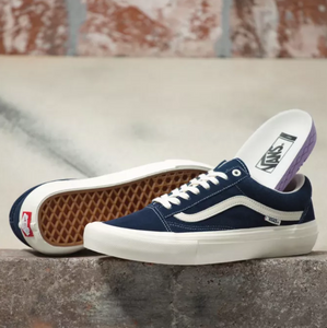 Old Skool Pro- (Wrapped) Navy/Marshmellow