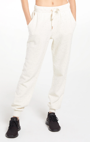 Ambre Speckled Pant - Natural