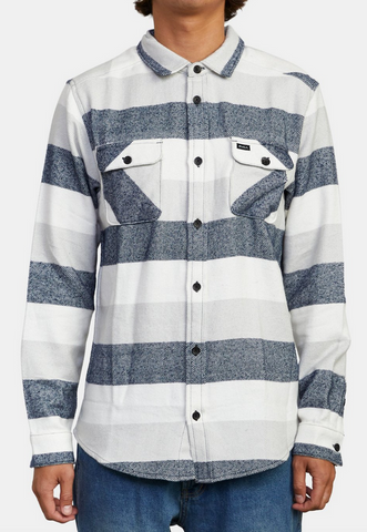 Shallows Stripe Flannel Long Sleeve Shirt - Mirage