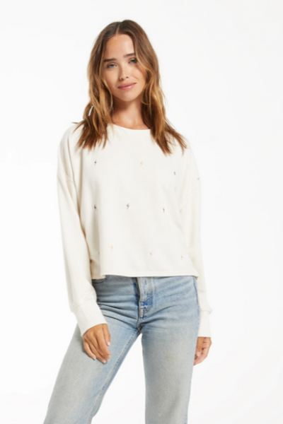 Amelia Mini Bolt Pullover - Bone