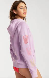 Catchin' Waves Pullover Sweatshirt - Lit Up Lilac