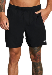 "Yogger IV Recycled 17"" Workout Short - Black"