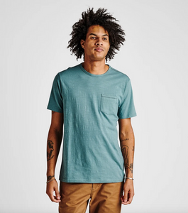 Well Worn Midweight Organic Knit Tee - Marine Blue