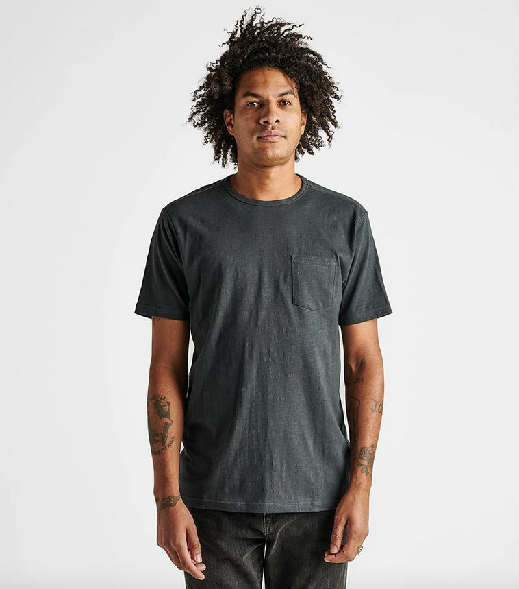 Well Worn Midweight Organic Knit Tee - Charcoal