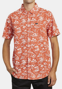 Tropical Disaster Short Sleeve Shirt - Rust