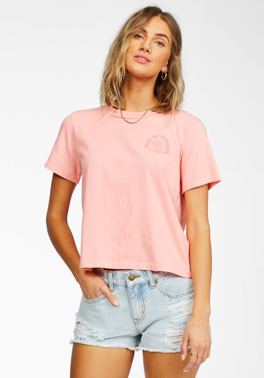 Eco Rockers Tee - Coral Sands