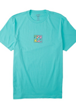 Load image into Gallery viewer, Crayon Wave Tee - Light Aqua