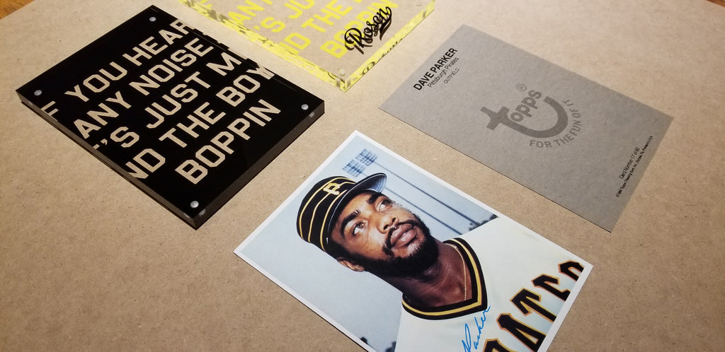 Dave Parker Pittsburgh Pirates Baseball Card Art by Matthew Lee Rosen (aka Matthew Rosen)