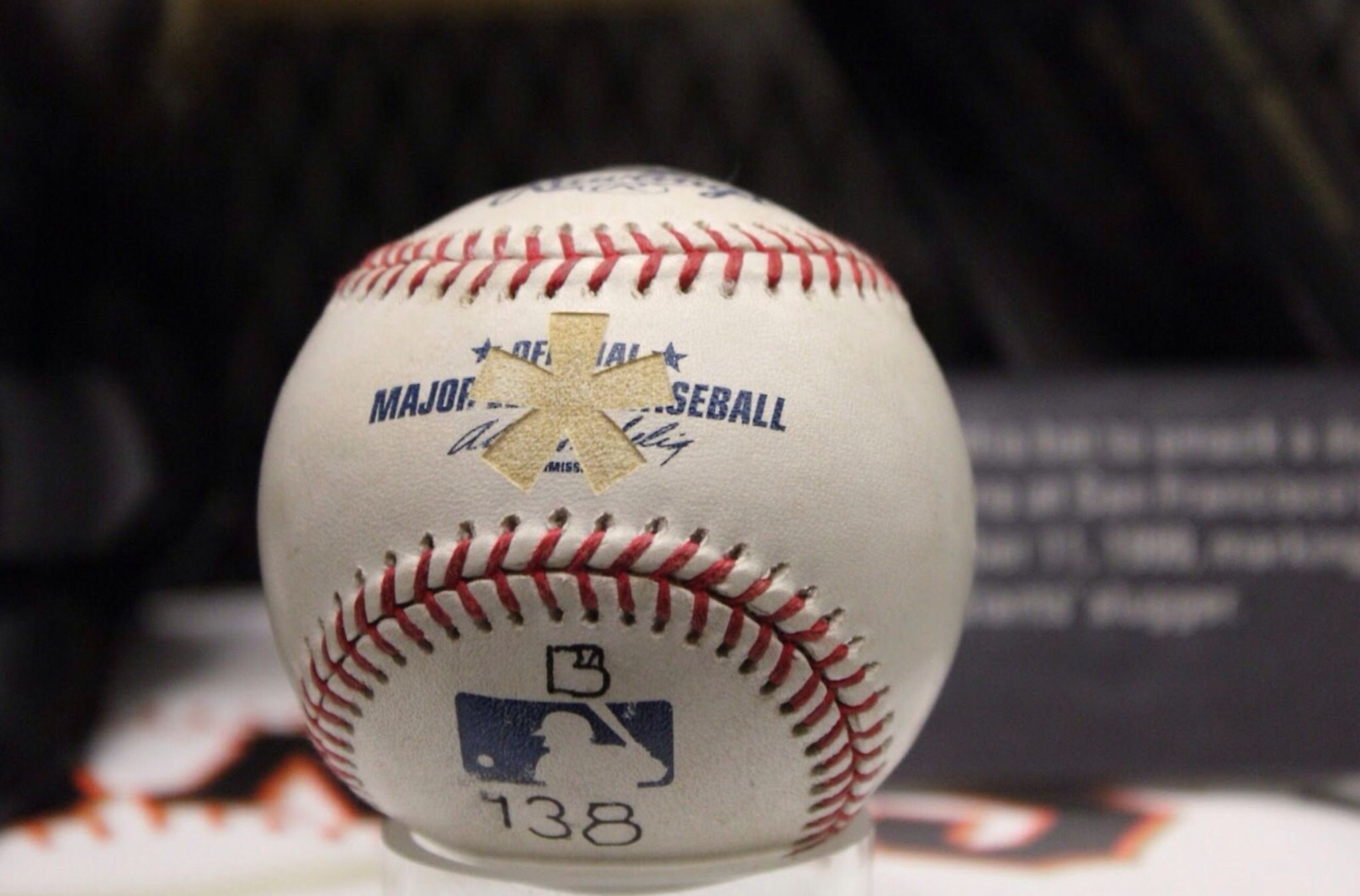Barry Bonds asterisk home run ball
