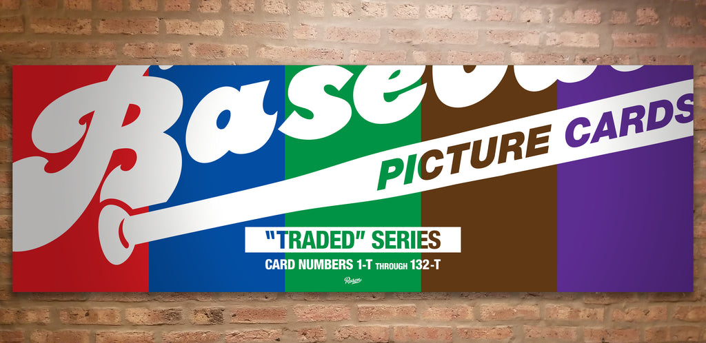 Baseball card art by Matthew Lee Rosen (aka Matthew Rosen) - Topps Traded Box Color Timeline