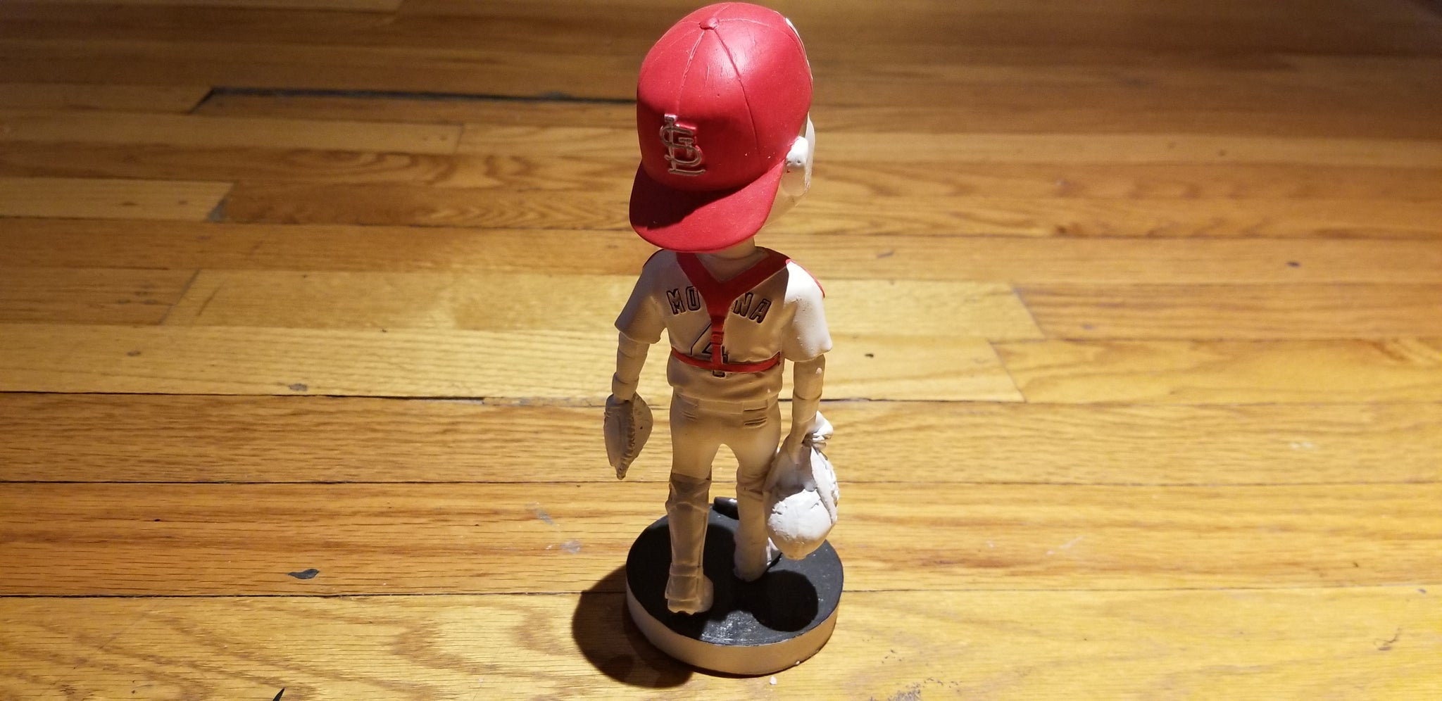 "Baseball card art by Matthew Lee Rosen (aka Matthew Rosen) - Yadier Molina ""Stuck"" Bobblehead"