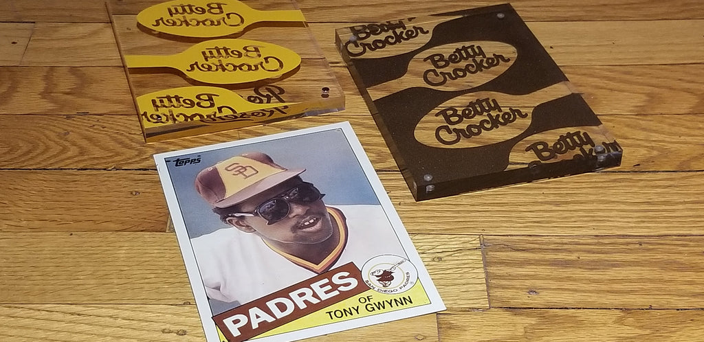 Baseball card art by Matthew Lee Rosen (aka Matthew Rosen) - Tony Gwynn (Betty Crocker)