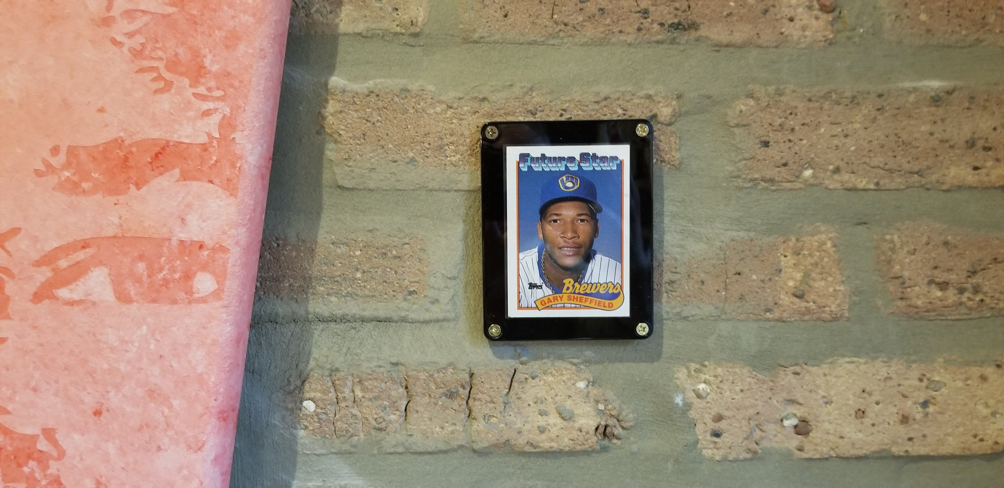 Baseball card art by Matthew Lee Rosen (aka Matthew Rosen) - 1989 Topps Future Star: Gary Sheffield (Giant Gum Stick)