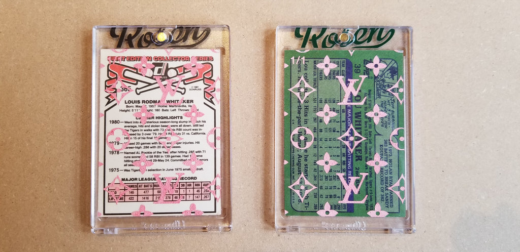 Baseball card art by Matthew Lee Rosen (aka Matthew Rosen) - Gum Stick Collector Cards - Lou Whitaker