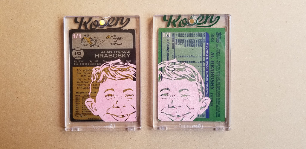 Baseball card art by Matthew Lee Rosen (aka Matthew Rosen) - Gum Stick Collector Cards - Al Hrabosky