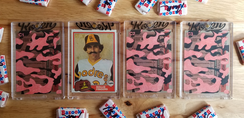 Baseball card art by Matthew Rosen - Rollie Fingers Camouflage