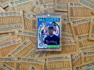 "Baseball card art by Matthew Lee Rosen (aka Matthew Rosen) - Ken Griffey Jr. ""Unwrapped"" 1/1"