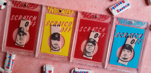 Baseball card art by Matt Rosen - Topps Scratch Offs