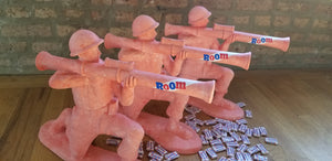 Baseball card art by Matthew Lee Rosen (aka Matthew Rosen) - Giant Bazooka Gum Army Man