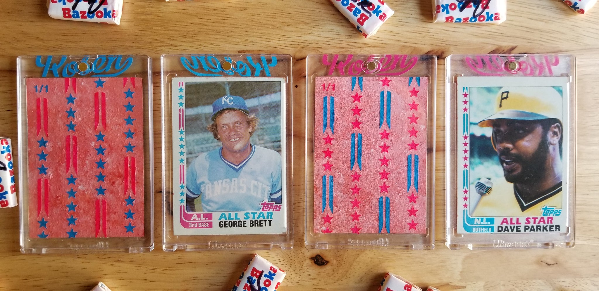 Baseball card art by Matthew Rosen - 1982 Topps All-Stars