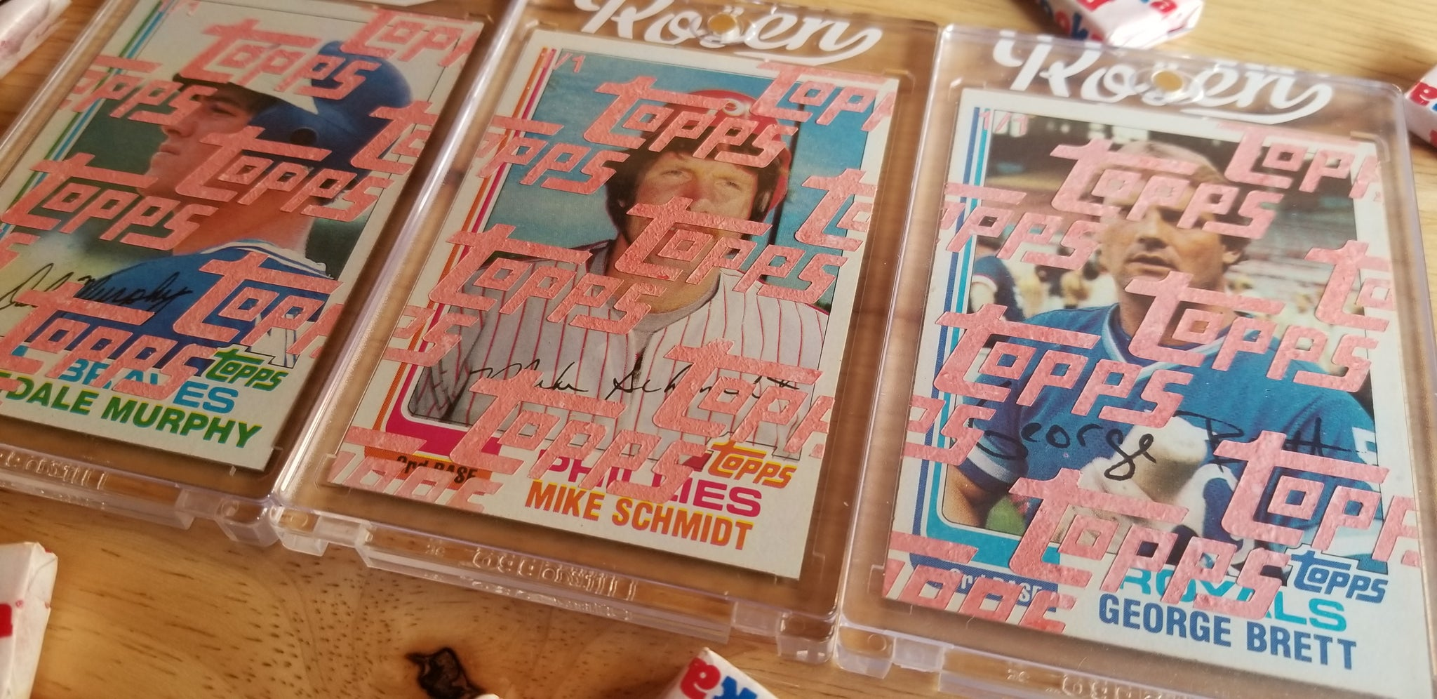 Baseball card art by Matt Rosen - 1982 Topps