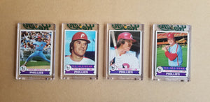 Baseball card art by Matthew Lee Rosen (aka Matthew Rosen) - Gum Stick Collector Cards - 1979 Burger King Phillies