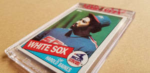 Baseball card art by Matthew Lee Rosen (aka Matthew Rosen) - Gum Stick Collector Cards - 1985 Topps (Trivia Q)