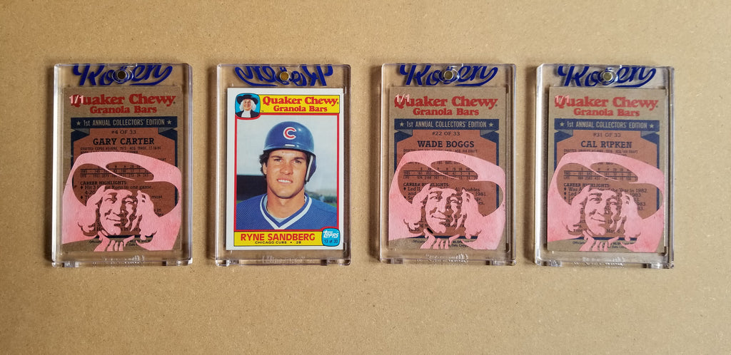 Baseball card art by Matthew Lee Rosen (aka Matthew Rosen) - Gum Stick Collector Cards - 1986 Topps Quaker Chewy