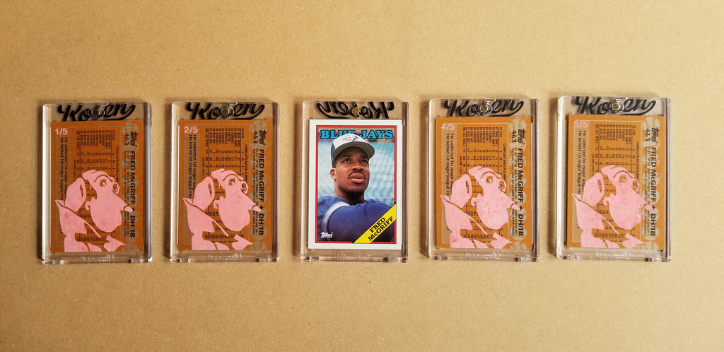 Baseball card art by Matthew Lee Rosen (aka Matthew Rosen) - Gum Stick Collector Cards - 1988 Topps Fred McGriff (Crime Dog)