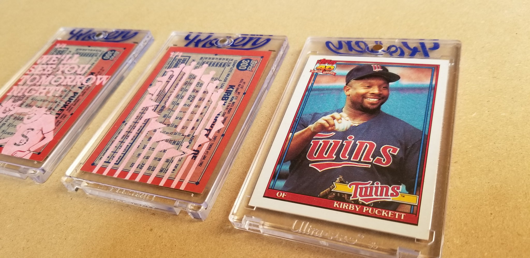 Baseball card art by Matthew Lee Rosen (aka Matthew Rosen) - 1991 Topps Kirby Puckett