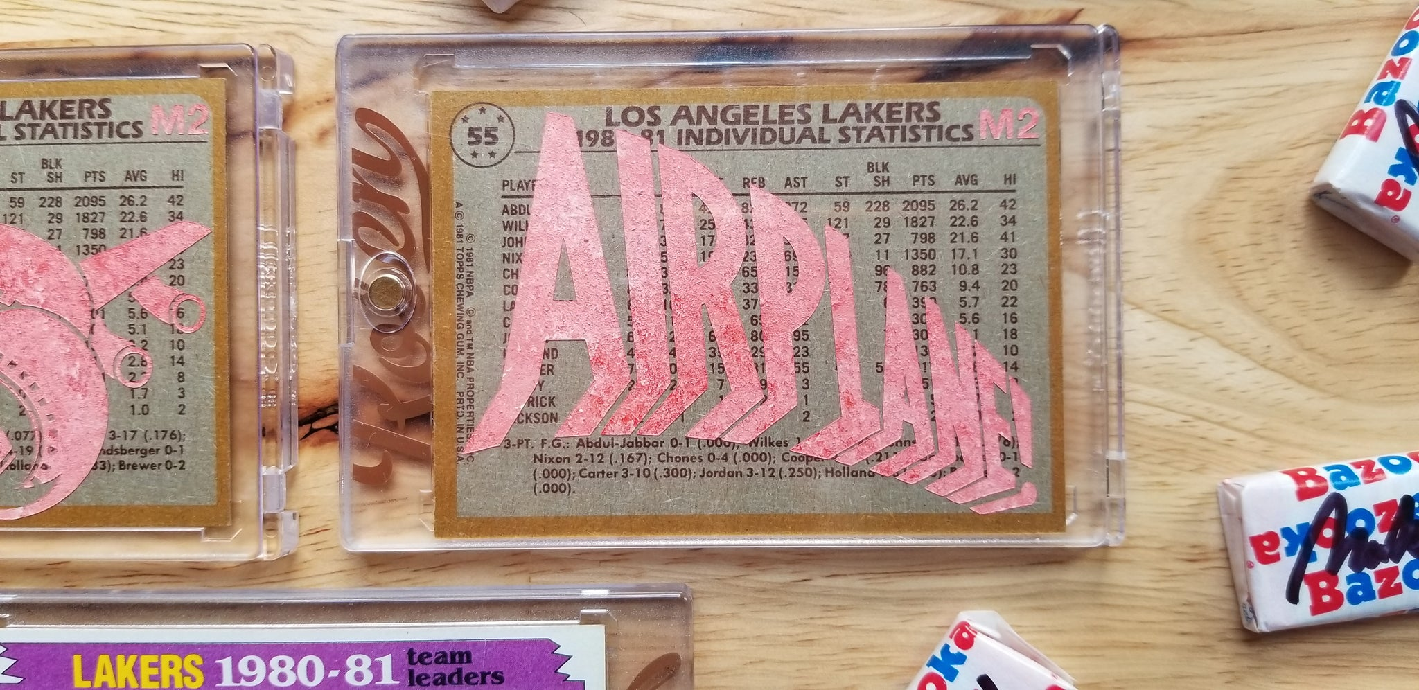 Baseball card art by Matthew Rosen - Kareem Abdul-Jabbar Airplane!